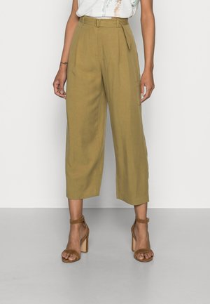 A BELTED COULOT - Pantalones - olive