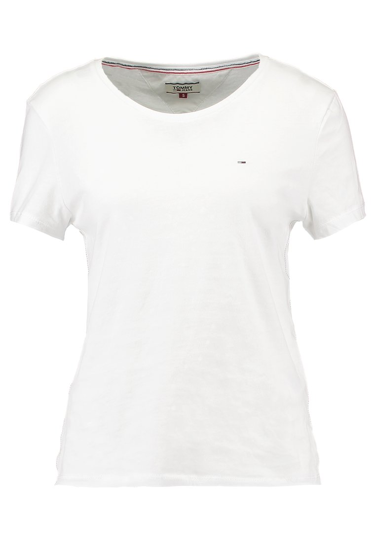 Tommy Jeans - ORIGINAL SOFT TEE - T-shirts - classic white