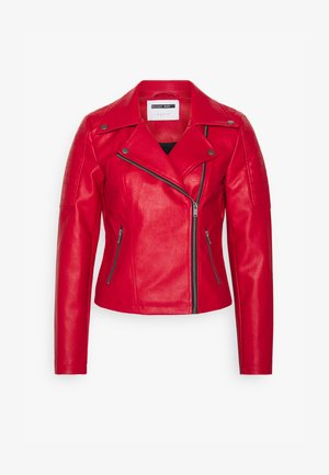 NMREBEL JACKET - Faux leather jacket - haute red/black