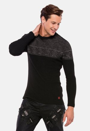 MIT MODISCHEM STRUKTURMIX - Jumper - black-anthracite