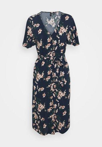 VMSIMPLY EASY CALF SHIRTDRESS - Maxi dress - navy blazer/imma