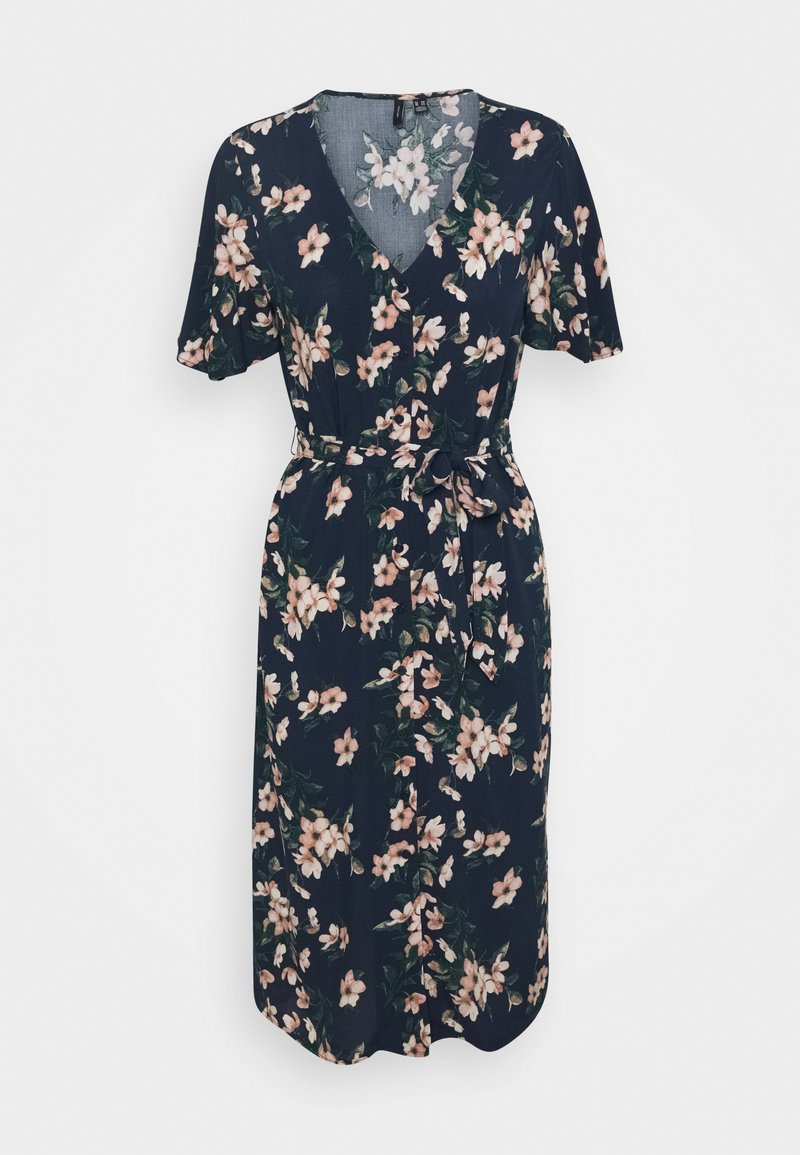 Vero Moda Petite - VMSIMPLY EASY CALF SHIRTDRESS - Maxi dress - navy blazer/imma