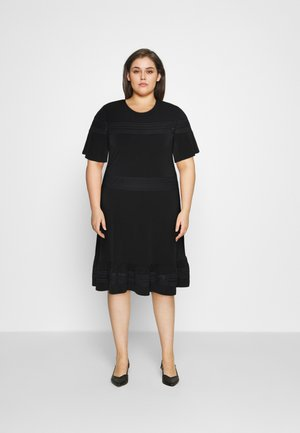 MIX DRESS - Jersey dress - black
