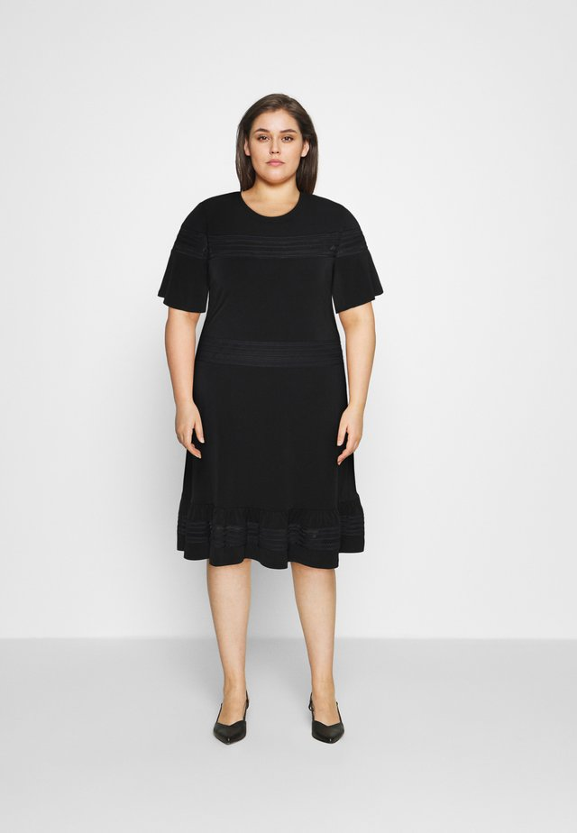 MIX DRESS - Trikoomekko - black