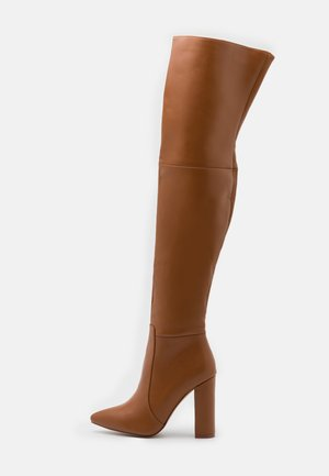 GRESHA - High heeled boots - tan
