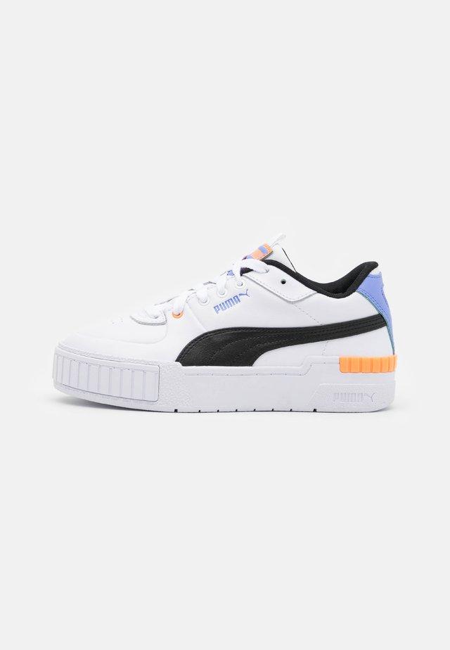 CALI SPORT - Sneakers basse - white/soft fluo orange