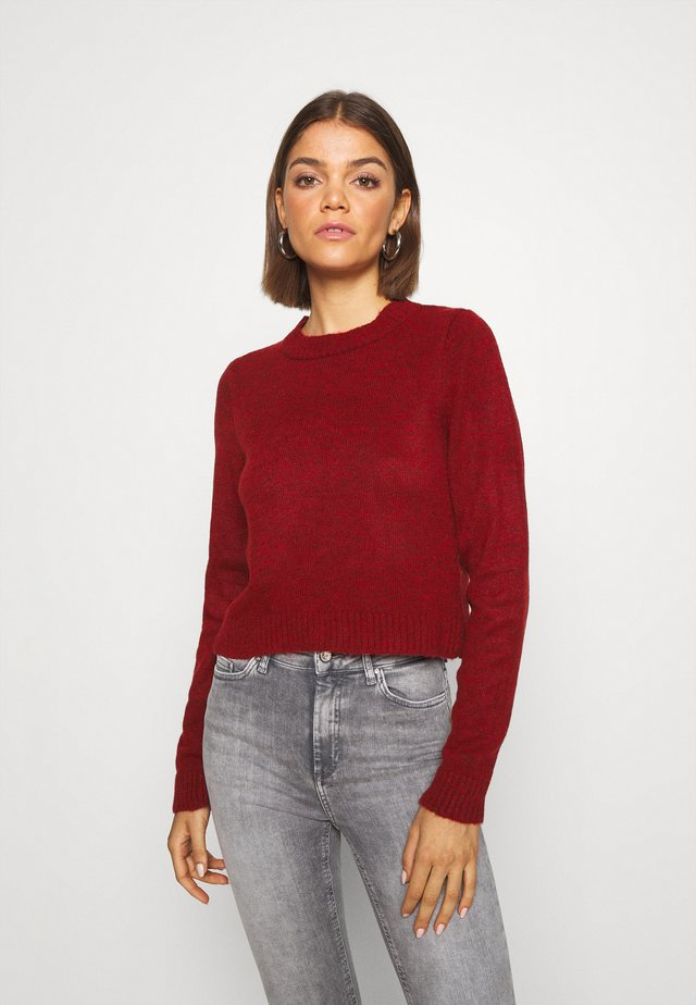 CROPPED JUMPER - Trui - dark red