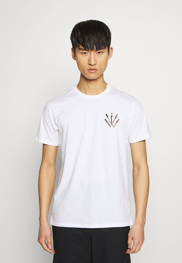 SMALL DAGGER - T-shirt con stampa - white