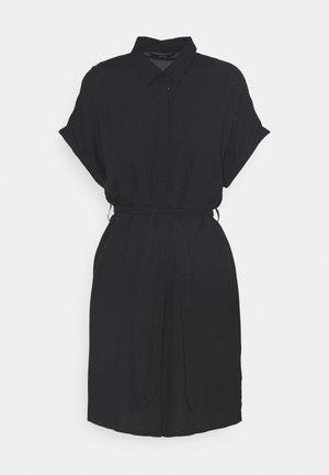 VMSIMPLY EASY SHIRT DRESS - Košilové šaty - black