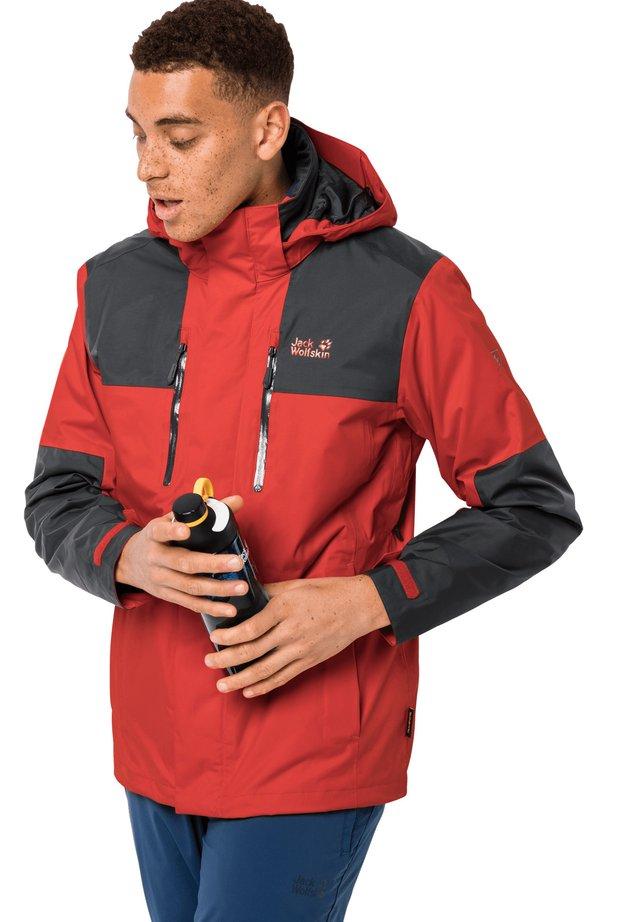 JASPER FLEX  - Hardshell jacket - lava red