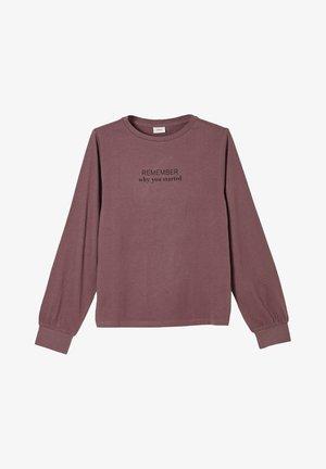 Long sleeved top - light purple