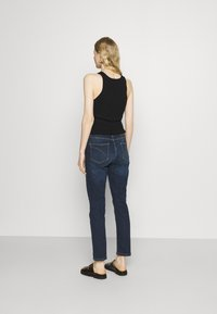 Opus - LOUIS - Jeans straight leg - dark washed blue - 2