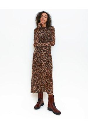 Jerseyklänning - choco brown