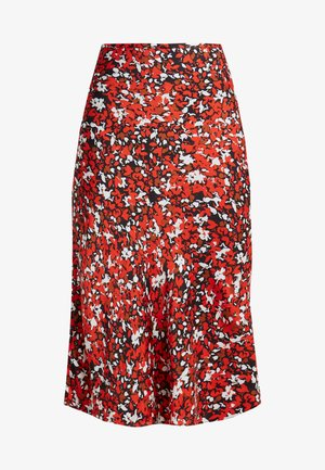 NORMA - A-line skirt - red