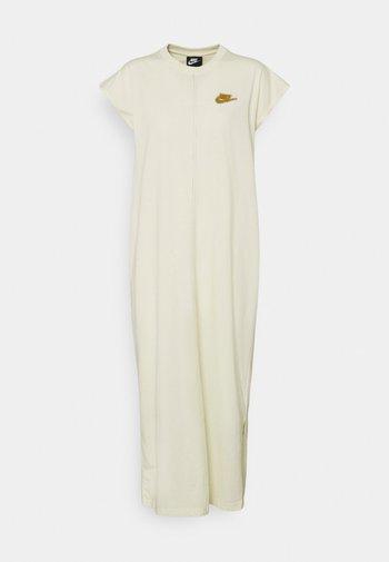 Jersey dress - coconut milk/wheat