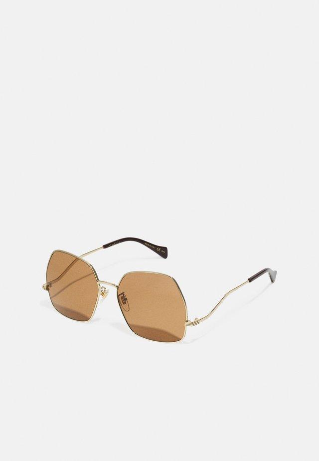 Gafas de sol - gold-coloured/brown