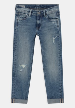 CASHED DESTROY - Slim fit jeans - denim