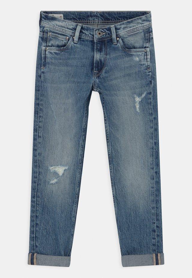 CASHED DESTROY - Slim fit jeans - denim
