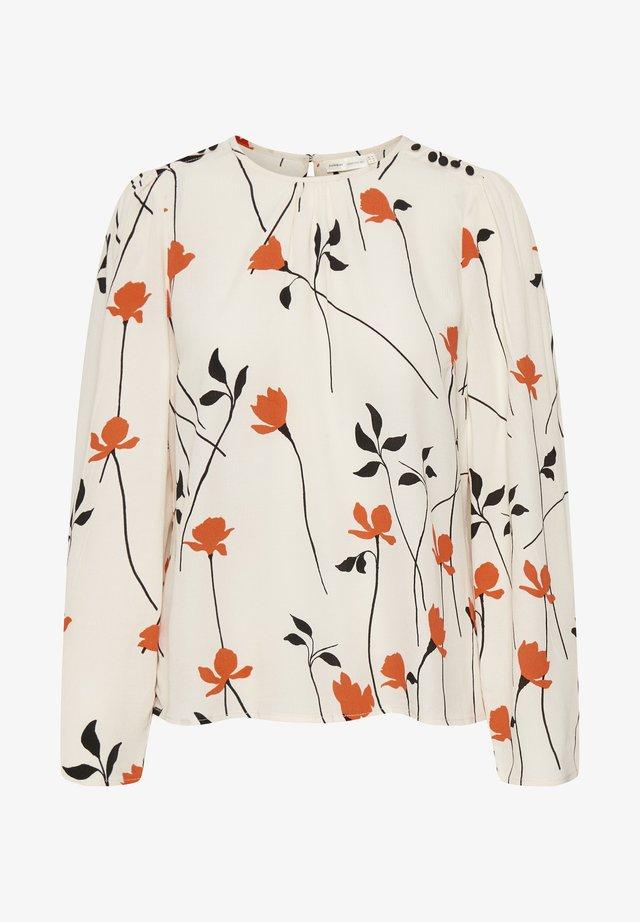 Blouse - orange forever flower
