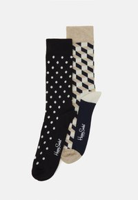 FILLED OPTIC DOT - Socks - dark blue/beige