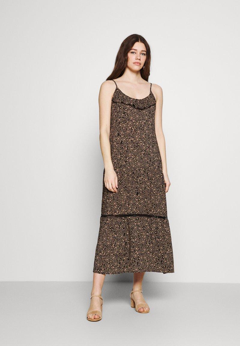 Cotton On - BECKY STRAPPY RUFFLE MAXI DRESS - Maxi dress - black