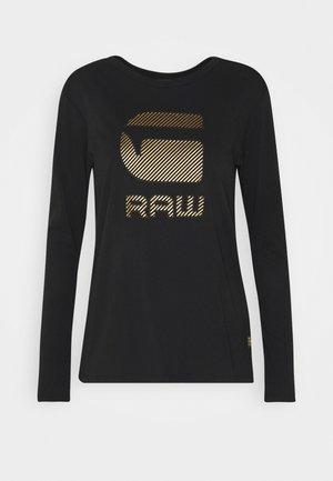 GRAW GR ROUND LONG SLEEVE - Top sdlouhým rukávem - dark black