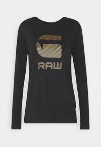 G-Star - GRAW GR ROUND LONG SLEEVE - Long sleeved top - dark black - 4