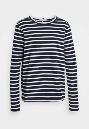 RELAXED TEE - Long sleeved top - breton/desert sky white