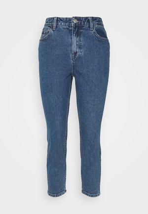 OBJVINNIE MOM JEANS - Straight leg jeans - medium blue denim