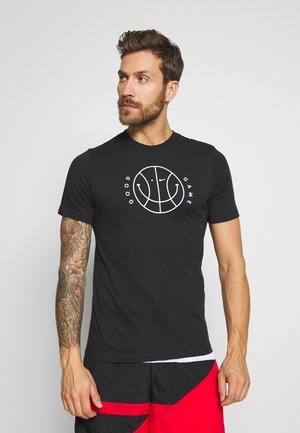 DRY TEE VERBIAGE  - Print T-shirt - black