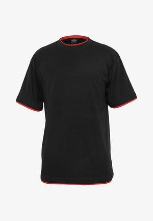 Jednoduché triko - black/red