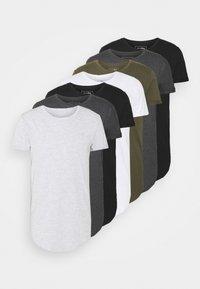 TOM TAILOR DENIM - 7 PACK  - T-shirt - bas - black - 6