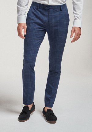 CHECK SUIT: TROUSERS-SUPER SKINNY FIT - Pantaloni eleganti - blue