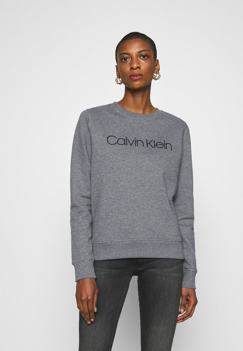 Calvin Klein - CORE LOGO - Sweatshirt - mid grey heather