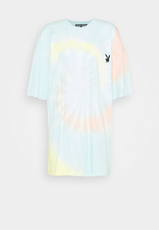 PLAYBOY TIE DYE OVERSIZED DRESS - Žerzejové šaty - multi