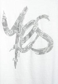 Street One - MIT SCHIMMER PRINT - Print T-shirt - weiß - 4