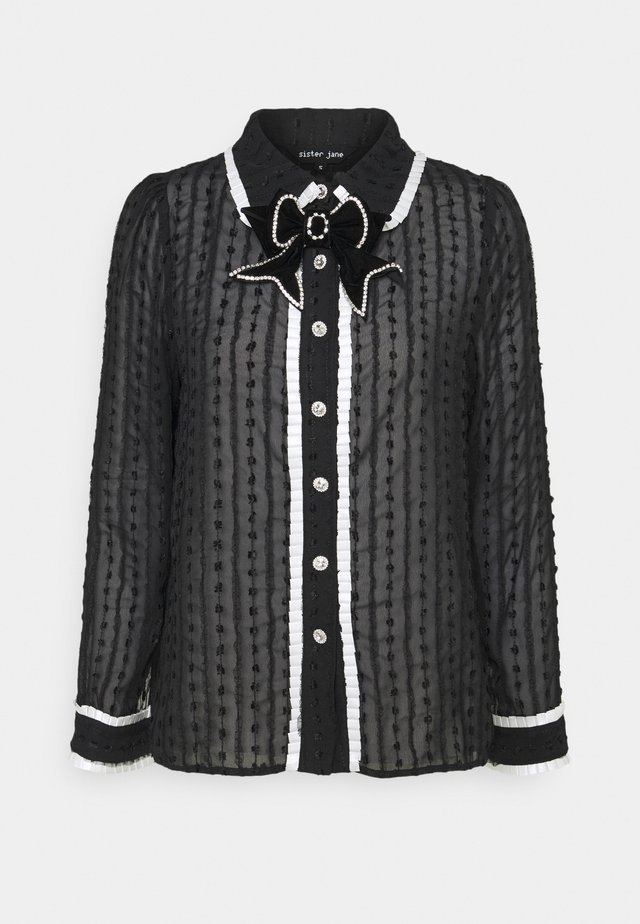 LEA CHARM BOW - Blusa - black