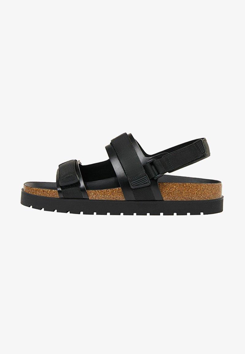 Bershka - Sandals - black