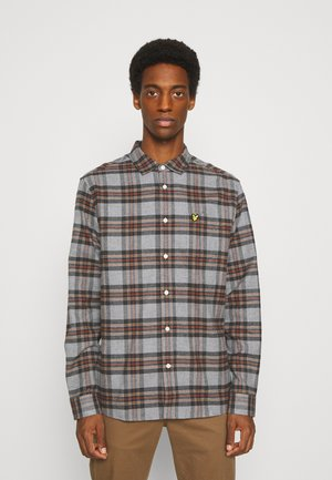 BRUSHED CHECK - Shirt - mid grey marl