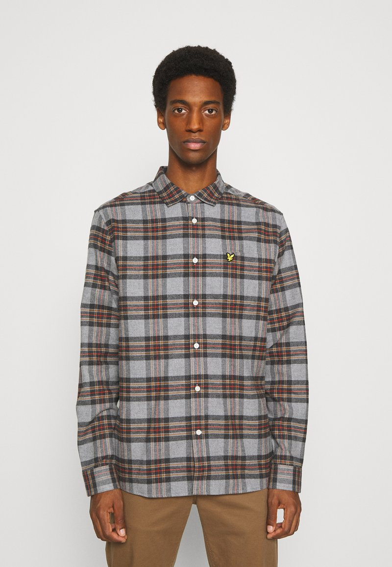 Lyle & Scott - BRUSHED CHECK - Overhemd - mid grey marl