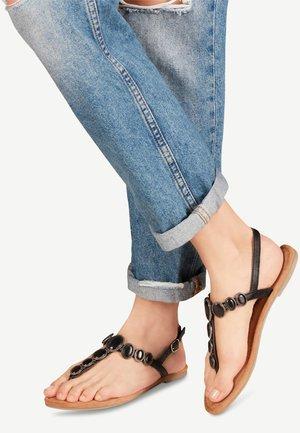 TAMARIS SANDALE - T-bar sandals - black