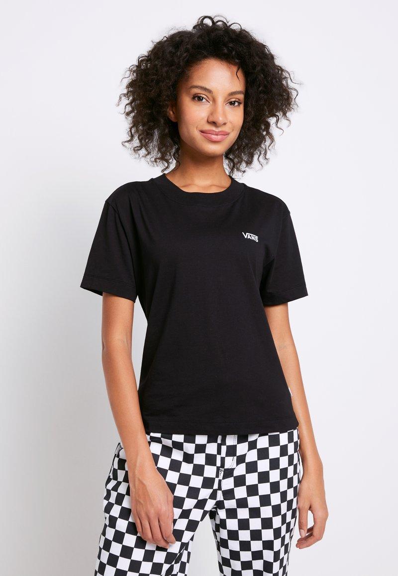 Vans - BOXY - T-shirts - black