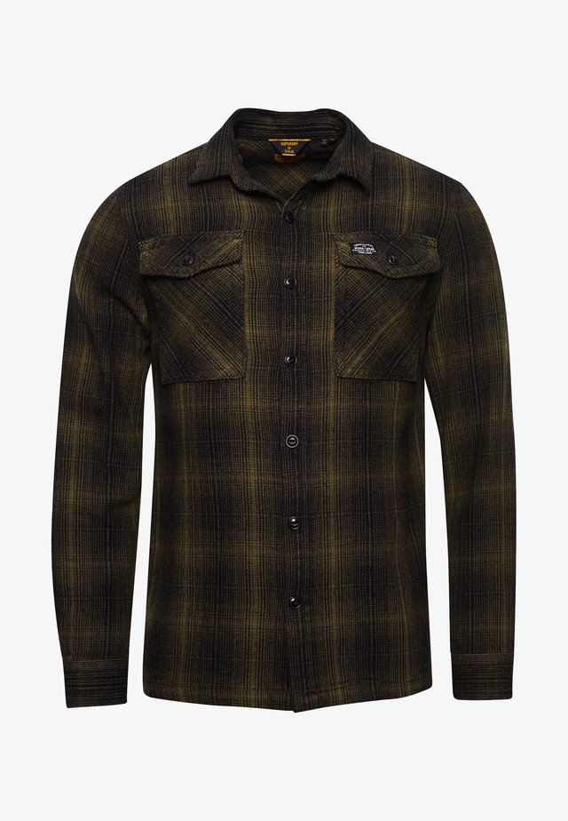 Shirt - olive black ombre check