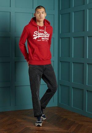 Hoodie - rouge red