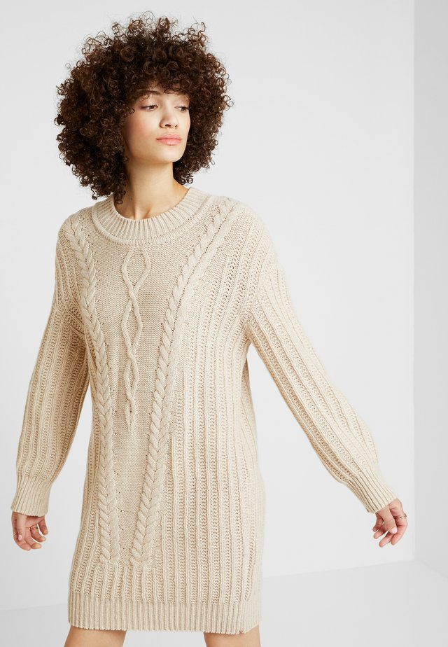 PULLOVER STRUCTURE PATTERN - Jumper dress - off-white