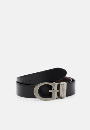 REVERSIBLE AND ADJUSTABLE BELT - Cinturón - black/brown