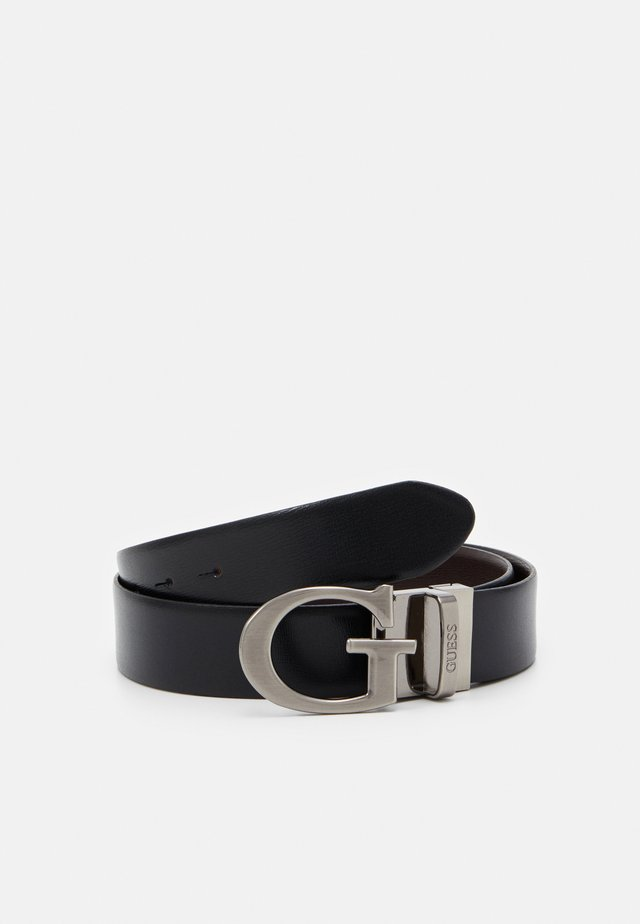REVERSIBLE AND ADJUSTABLE BELT - Belt - black/brown