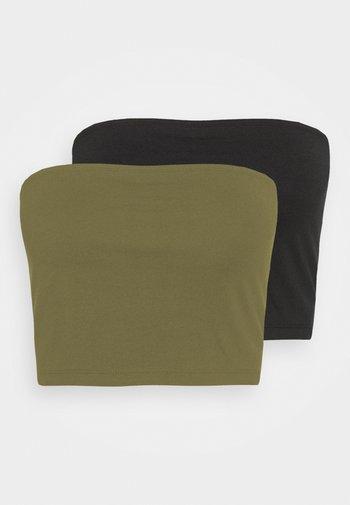 2 PACK - Top - khaki/black