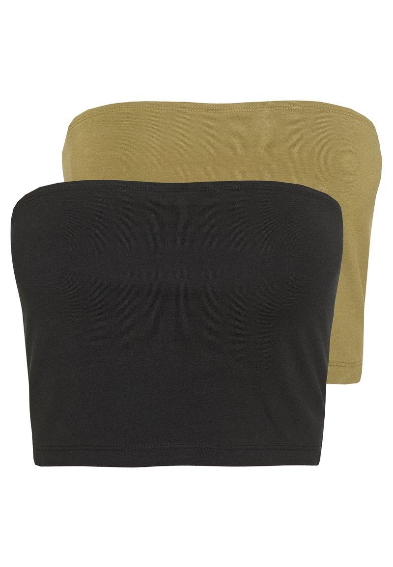 Even&Odd - 2 PACK - Top - khaki/black