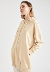 DeFacto - Zip-up hoodie - beige - 3